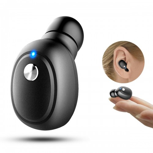 Mini Bluetooth Earbuds with Mic, V4.1 Bluetooth Car Headset for iPhone and Android Smart Phones