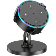 Pobon Table Holder for Echo Dot 2nd Generation, 360° Adjustable Desktop Stand Mount for Smart Speaker, Improves Sound Visibility and Appearance, Home Voice Assistant Pedestal Cradle, Dot Accessories