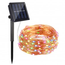 Solar String Lights, AYY 4 Colors 100 LED 33ft Starry Outdoor String Lights, Waterproof Copper Wire Fairy Decorative Light for Patio, Garden, Fence, Gate, Yard, Party, Wedding, Christmas, Xmas Lights